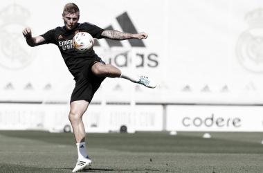 Kroos de vuelta a los entrenamientos. Twitter: Real Madrid
