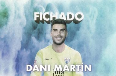 Dani Martín, nuevo jugador del Málaga CF / Fuente: Málaga CF