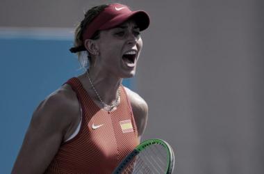 Paula Badosa celebrando la victoria. Fuente: CSD