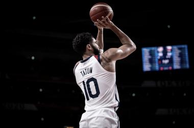 Tatum lideró el encuentro con 27 puntos / Fuente: FIBA