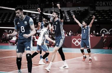 01/08/2021 Argentina 3 - 2 Estados Unidos (FOTO:@Voley_FeVA)