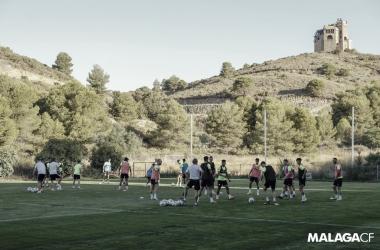 Imagen del entrenamiento del Málaga CF / Fuente: Málaga CF