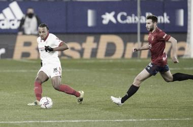 Koundé en el partido | Foto: Sevilla FC