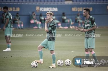Sergio Busquets y Frenkie De Jong entrenando en el Johan Cruyff| Foto: Noelia Déniz