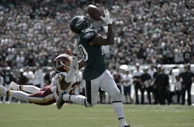 Desean Jackson consiguió 135 yds y 2 TD para ayudar a la remontada de su equipo // Foto: Philadelphia Eagles