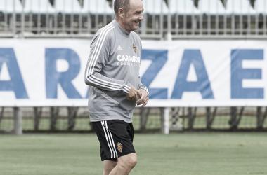 Víctor Fernández durante un entrenamiento | Foto: Real Zaragoza