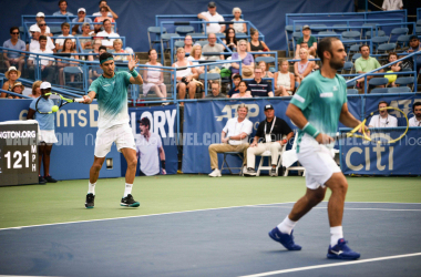 Cabal and Farah needed a match tiebreak to fend off Kyrgios and Tsitsipas (Noel Alberto/VAVEL USA)