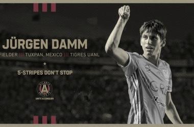 Jürgen Damm jugará para Atlanta United FC
