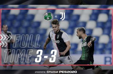 Ennesima pessima Juventus: a Sassuolo è 3-3