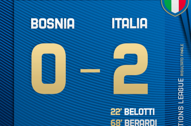 Nations League, l'Italia stende anche la Bosnia