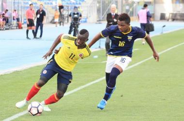 Ecuador fue víctima de sus imprecisiones y falta de seguridad. Foto. CONMEBOL, Sudamericano Sub-17