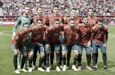 El once inicial de la Selección FOTO: @SeFutbol