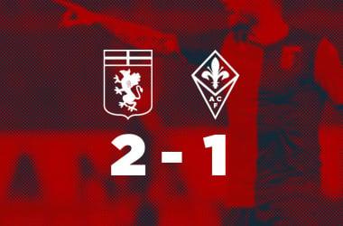 Serie A - Il Genoa brilla ma rischia: battuta 2-1 una Fiorentina bella a metà