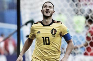 Hazard celebrando su gol ante Inglaterra / Foto: AFP