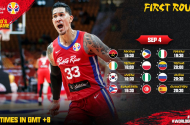 Basket Mondiale FIBA Cina 2019- I verdetti dei primi quattro gironi