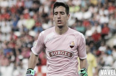 Édgar Badía, en un partido de Liga con el Reus. (FOTO: David García - VAVEL)