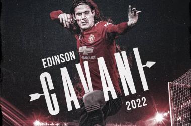 Edinson Cavani renueva con el Manchester United