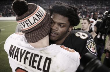 Baker Mayfield y Lamar Jackson intentarán reinar el norte de la AFC con sus franquicias. Foto: NFL
