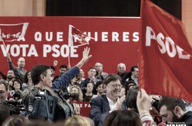 Sánchez durante la pasada campaña electoral. Fuente: Vavel España.