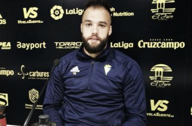 Edu Ramos en rueda de prensa. Fuente: cádizcf.com