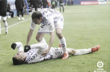 Sergi Guardiola y Nacho después de marcar un gol // Foto: La Liga