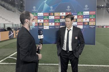 """Rudi Garcia agradece elenco por classificação histórica do Lyon: """"Vitória do grupo"""""""
