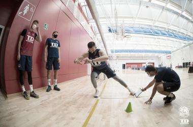 Físico y resistencia en un nuevo entrenamiento de TD Systems Baskonia