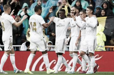 Los jugadores del Real Madrid celebran la victoria frente al Levante / Foto: Real Madrid