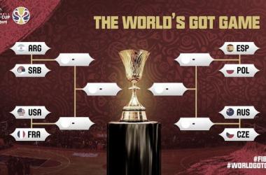 Los cruces de cuartos de final, poster oficial | Foto: FIBA