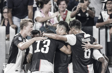 Festejo del cuarto gol / Foto: Twitter oficial de Juventus