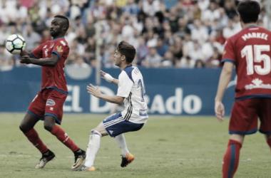 Diamanká clasificó al Numancia para la final del Playoff con su gol en el 90'. Imagen: La Liga