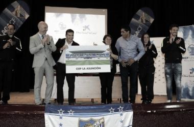 El Málaga presenta la campaña 'Valores Blanquiazules'