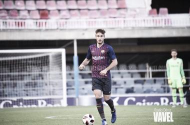 Óscar Mingueza ante el Club Deportivo Ebro | Foto de Noelia Déniz, VAVEL