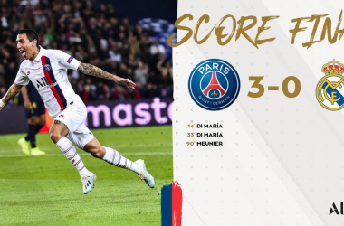 Champions League- Di Maria show: il PSG travolge 3-0 il Real