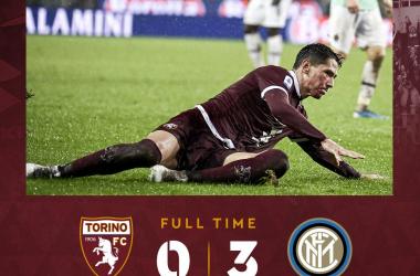 Serie A- Un pessimo Torino crolla contro l'Inter: finisce 3-0 all'Olimpico