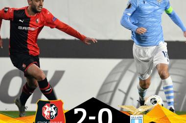 La Lazio è eliminata dall'Europa League. Vince il Rennes 2-0