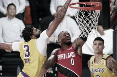 Com Anthony Davis inspirado, Lakers igualam série com vitória sobre Trail Blazers
