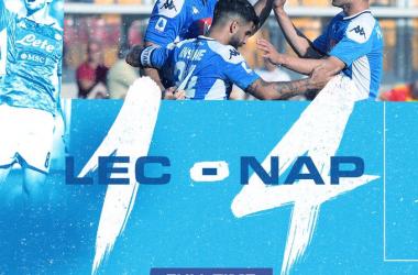 Serie A - Llorente non si ferma più: il Napoli ne fa 4 al Lecce e accorcia in vetta