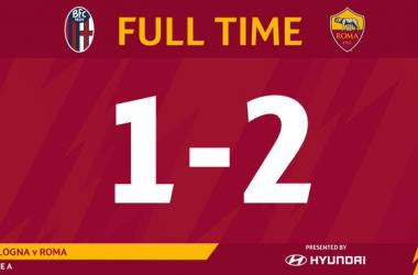 Serie A- Dzeko all'ultimo respiro! La Roma espugna Bologna (1-2)
