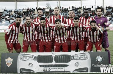 Almería - Lugo: puntuaciones Almería, jornada 25 de la Liga Adelante (Foto: @almeriajuega - VAVEL).