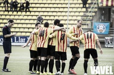 El Sant Andreu celebra el primer gol