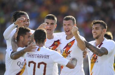 Serie A - Dzeko stende il Lecce: la Roma espugna il Via del Mare
