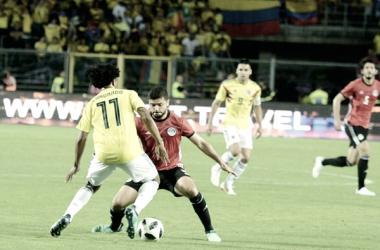 Egipto sacó un empate contra Colombia. Foto: EFA.com