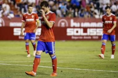 Eguaras, en su regreso. | Foto: Real Zaragoza