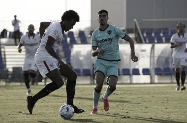 Koundé en un amistoso ante el Levante. -Estadio Deportivo