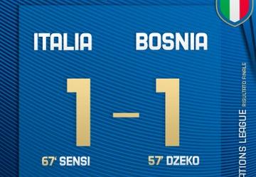 UefaNations League - Sensi risponde a Dzeko: 1-1 tra Italia e Bosnia