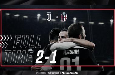 Serie A - La Juventus batte il Bologna: Buffon e la traversa regalano la vittoria ai bianconeri (2-1)
