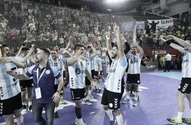 Alegría total en el Aldo Cantoni. Foto: Gonzalo Pacheco/CAH.