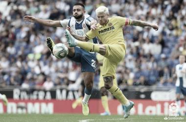 """<p class=""""MsoNormal"""">Último enfrentamiento entre Espanyol y Villarreal // Foto: LaLiga<o:p></o:p></p>"""