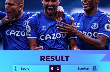 L'Everton fa crollare il Tottenham alla prima 1-0